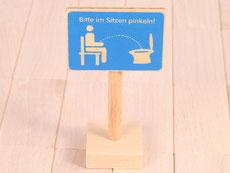 Holzspielzeug Beck Sitzen Schild