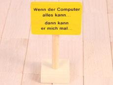 Holzspielzeug Beck Computer Schild