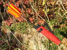 Köcher mit Pfeilen der Bogenschützen in Esslingen