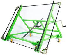 Glastransportwagen Plattenschwenkwagen Schwenkfunktion Kippfunktion Glas-Transport-Wagen mit Kipp-Funktion Plattenschwenkwagen Plattenschwenkfix Platten-Schwenkwagen Plattentransportwagen Plattentransport- und Schwenkwagen