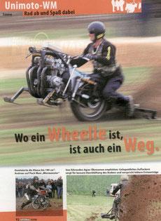 Bericht in der Zeitschrift: Motorrad