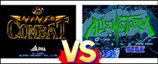 Ninja Combat VS Alien Storm