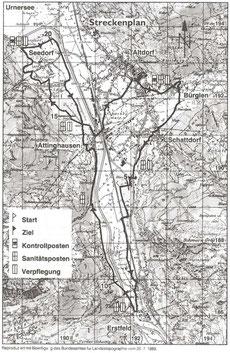 Strecke Altdorfer Waffenlauf bis 1999