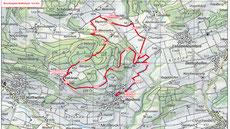 Streckenplan Herderner Waffenlauf