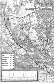 Strecke Thuner Waffenlauf ab 2005