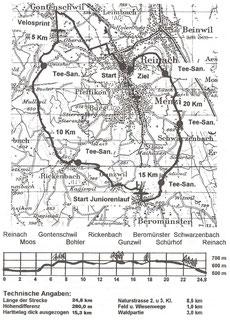 Strecke Aargauischer Waffenlauf