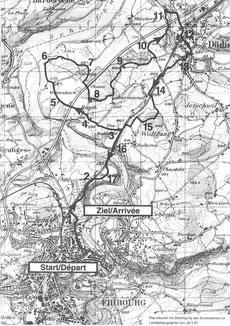 Strecke Freiburger Waffenlauf