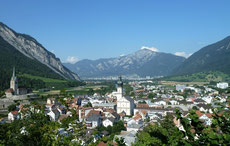 Blick von Domat-Ems Richtung Chur