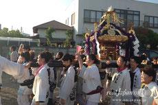 田町 女神輿連合渡御に向け、各町から神輿が続々集合 PM5:20
