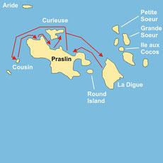 Segelkreuzfahrt auf den Seychellen ab/bis Praslin