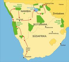 Campingsafari Südafrika von Kapstadt nach Victoria Falls