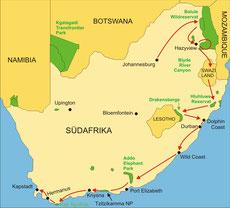 Südafrika Safari von Johannesburg bis Kapstadt