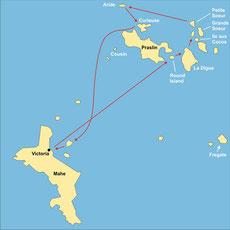 Segelkreuzfahrt auf den Seychellen ab/bis Mahé
