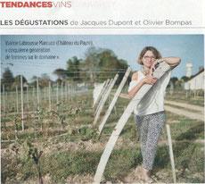 les dégustations de Jacques Dupont et Olivier Bompas, Château du Payre