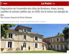 Revue le point par Jacques Dupont le 19 mars 2019, le point vin, Château du Payre