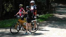 Starten Sie mit Ihrem Rad vor unserer Haustür auf dem Rad- Wanderweg nach Stein, durch Bad Berneck.
