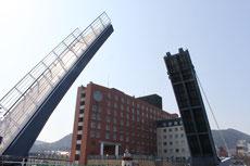 日本でも最大級の歩行者専用のハネ橋
