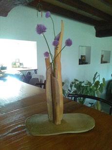 """Grand """"Vase bouquet"""" grès noir cuisson four à bois Noborigama de """"Caco et Sylvie"""" -Sylvie Ruiz Foucher- 2018 - Collection privée"""