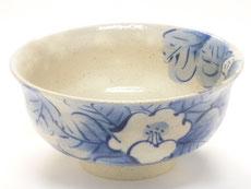 九谷焼『抹茶碗』藍椿