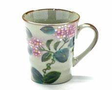 母の日プレゼント 人気 九谷焼『マグカップ』がく紫陽花『裏絵』