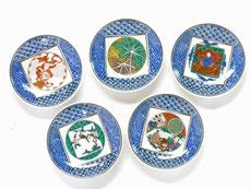 九谷焼 3.3寸 小皿揃え 九谷歴代画