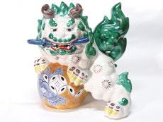 九谷焼 唐獅子