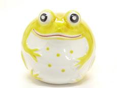 九谷焼 蛙 黄色