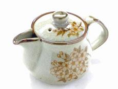九谷焼 茶器・ティーポット 小 しだれ桜 裏絵