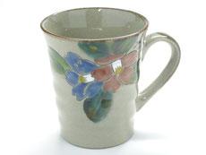 九谷焼『マグカップ』コンビ山茶花『裏絵』