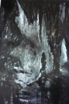 """série """"grotte""""- gouache 75x110 cm"""