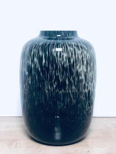 vase noir moucheté, vase noir tacheté, vaas cheetah, vase cheetah