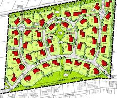 Auszug B-Plan Wohngebiet in Werlte