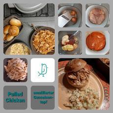 Pulled Chicken aus dem emaillierten Gusseisentopf von Pampered Chef®