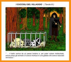 I cuccioli del villaggio - III^ tavola con didascalia