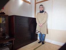 名古屋市より修理依頼の桐たんすの納品をしました。大変に気に入って頂けました。