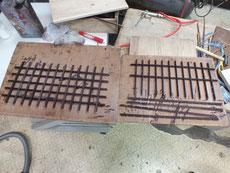 格子が割れたり折れたりして使えないため横3本作り直しました。