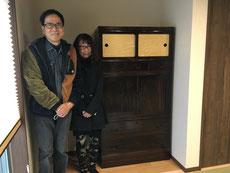 名古屋市より修理依頼の黒檀箪笥を納品してきました。