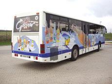 Fahrzeugbeschriftung Omnibus seitlich