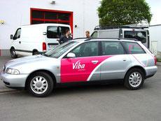 Fahrzeugbeschriftung Viba seitlich