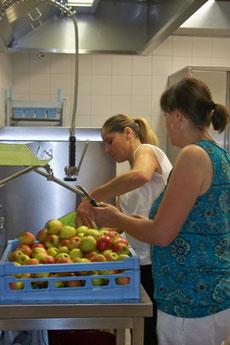 Äpfel - aber erst waschen
