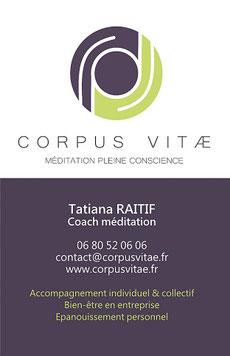 Méditation pleine conscience Lyon Corpus Vitae Tatiana Raitif