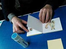 初めての小さな手づくり絵本の中味が完成の画像