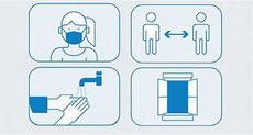 Allgemein geltende Hygienebestimmungen