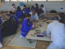 茅ヶ崎市立鶴が台中学校 ミニ畳製作体験
