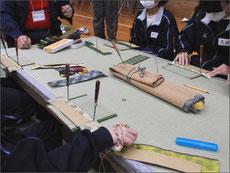 横浜市立奈良中学校 ミニ畳製作体験