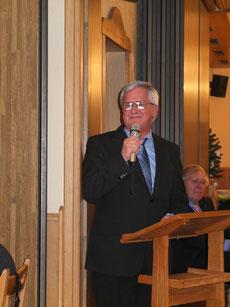Der 1. Vorsitzende des MC Bernhard Nolte