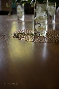 涼し気なテーブルモチーフ