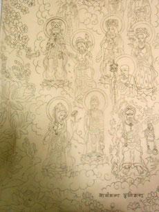 十三仏 家族へ感謝を込めて制作中 炎と楽園のアート 立花雪 YukiTachibana
