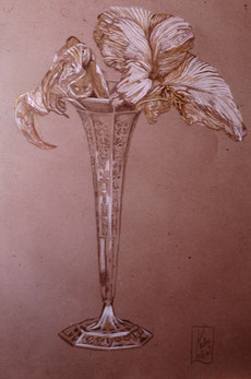 Still life on Ingrès paper with Polychromes pencil (1986)