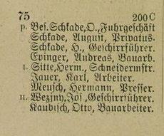 Auszug aus dem Häuserbuch Meißen, Zaschendorferstraße 75